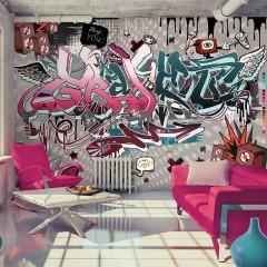 Artgeist Fototapete - Graffiti: hey You!