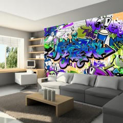 Artgeist Fototapete - Graffiti: violet theme