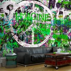 Artgeist Fototapete - Green Graffiti