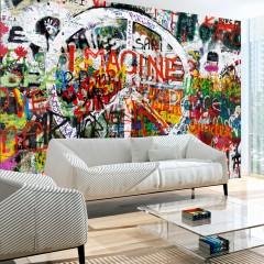 Artgeist Fototapete - Hippie Graffiti