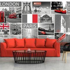 Artgeist Fototapete - London, Paris, Berlin, New York