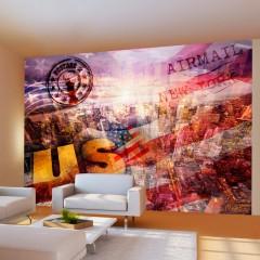 Artgeist Fototapete - New York - patriotic theme