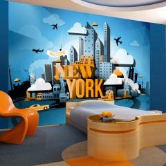 Artgeist Fototapete - New York - welcome