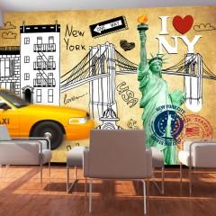 Artgeist Fototapete - One way - New York