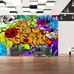 Artgeist Fototapete - Scary graffiti