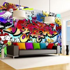 Artgeist Fototapete - Street art:red theme
