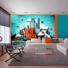 Artgeist Fototapete - Welcome New York