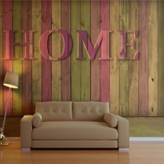 Artgeist Fototapete - house (pink)