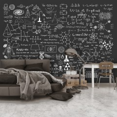 Artgeist Fototapete - Science on Chalkboard