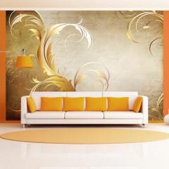 Artgeist Fototapete - Gold leaf
