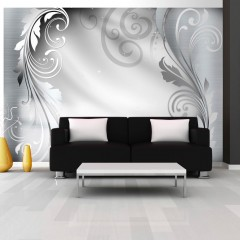 Artgeist Fototapete - Silver ornament