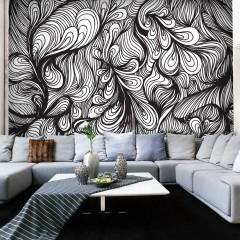 Artgeist Fototapete - Weiß und Schwarz im Retro-Look
