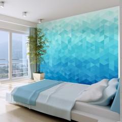 Artgeist Fototapete - Azurblaues Pixel