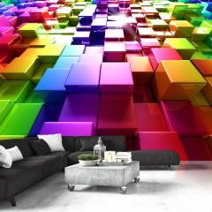Artgeist Fototapete - Colored Cubes