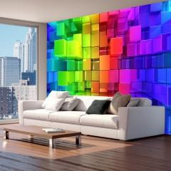 Artgeist Fototapete - Colour jigsaw