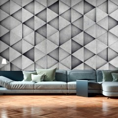 Artgeist Fototapete - Grey Triangles