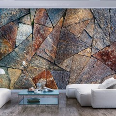 Artgeist Fototapete - Pavement Tiles (Colourful)
