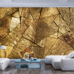 Artgeist Fototapete - Pavement Tiles (Golden)