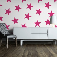 Artgeist Fototapete - Pink Star