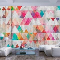 Artgeist Fototapete - Rainbow Triangles