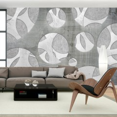 Artgeist Fototapete - Woven of grays