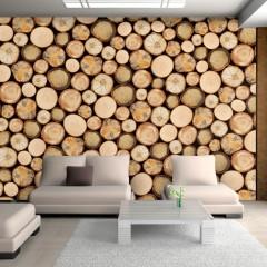 Basera® Fototapete Holzmotiv f-A-0059-a-c, Vliestapete