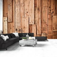 Basera® Fototapete Holzmotiv f-A-0371-a-b, Vliestapete