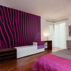 Artgeist Fototapete - Zebra pattern (violett)