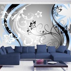 Artgeist Fototapete - Art-flowers (blue)