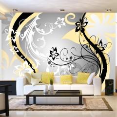 Artgeist Fototapete - Art-flowers (yellow)