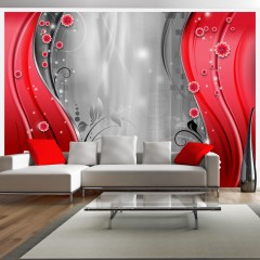 Artgeist Fototapete - Behind the curtain of red