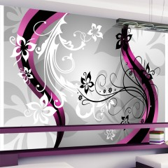 Artgeist Fototapete - Blumiges Muster (rosa)