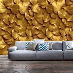 Artgeist Fototapete - Golden Leaves