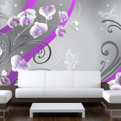 Artgeist Fototapete - Purple orchids - variation