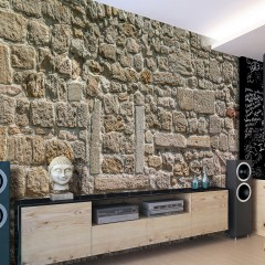 Artgeist Fototapete - Wall From Stones