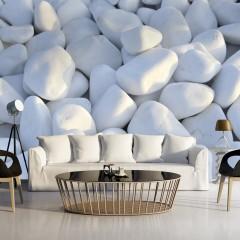 Artgeist Fototapete - Weiße Kieselsteine