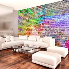 Artgeist Fototapete - Rainbow Wall