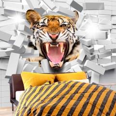 Artgeist Fototapete - Tiger Jump