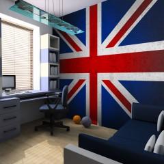 Artgeist Fototapete - Union Jack