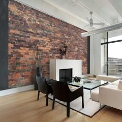 Artgeist Fototapete - Vintage Wall (Red Brick)