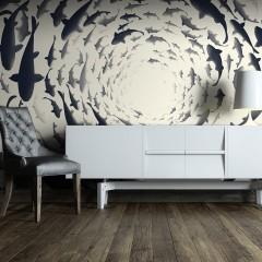 Artgeist Fototapete - Fish swirl