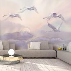 Artgeist Fototapete - Flying Swans