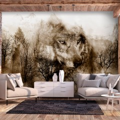 Artgeist Fototapete - Mountain Predator (Brown)