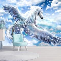 Artgeist Fototapete - Pegasus (Blue)