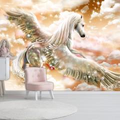 Artgeist Fototapete - Pegasus (Orange)