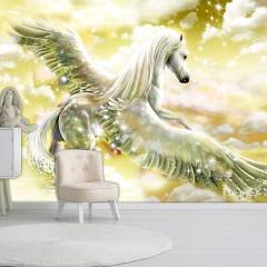 Artgeist Fototapete - Pegasus (Yellow)