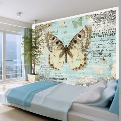 Artgeist Fototapete - Postkarte mit Schmetterling