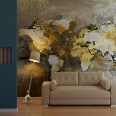 Artgeist Fototapete - Artistic map of the World
