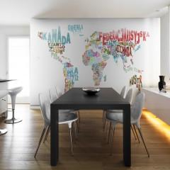 Artgeist Fototapete - Landkarte - Welt (polnisch)