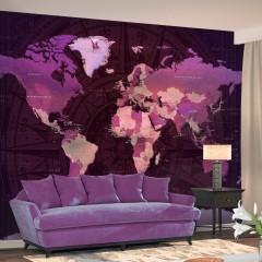 Artgeist Fototapete - Purple World Map